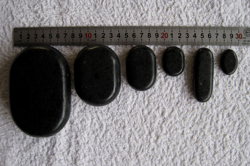 b03 black 36 steine hotstone massageset basalt stones ebay. Black Bedroom Furniture Sets. Home Design Ideas